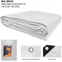 Toldo Blanco 10X15m 160gr Reforzado FS