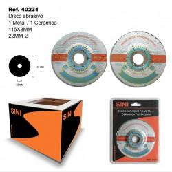 Disco Abrasivo P/1 Metal 1 Cerámica 115x3x22mm SINI
