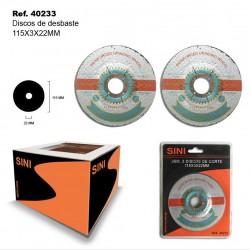 Discos de Desbaste 115x5x22mm SINI