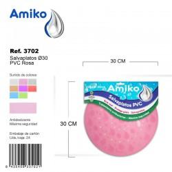Salvaplatos PVC Translucido Circular 30cm Transparente Amiko