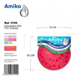 Salvaplatos PVC Translucido Circular 30cm Azul Amiko