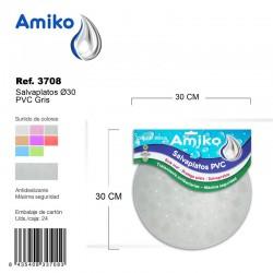 Salvaplatos PVC Translucido Circular 30cm Marrón Amiko