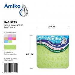 Salvaplatos PVC Translucido Circular 30cm Verde Amiko
