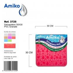 Salvaplatos PVC Translucido Circular 30cm Granate Amiko