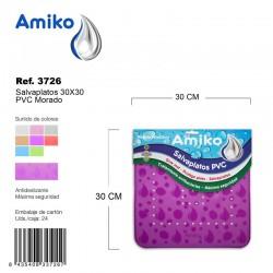 Salvaplatos PVC Translucido Circular 30cm Morado Amiko