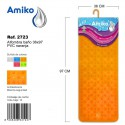 Alfombra Baño PVC Translucido 36x97cm Naranja Amiko