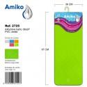 Alfombra Baño PVC Translucido 36x97cm Verde Amiko