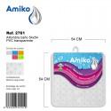 Alfombra Baño PVC Translucido 54x54cm Transparente Amiko