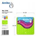 Alfombra Baño PVC Translucido 54x54cm Verde Amiko