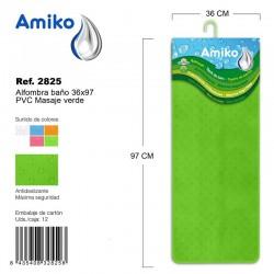 Alfombra Baño PVC Masaje 36x97cm Rosa Amiko