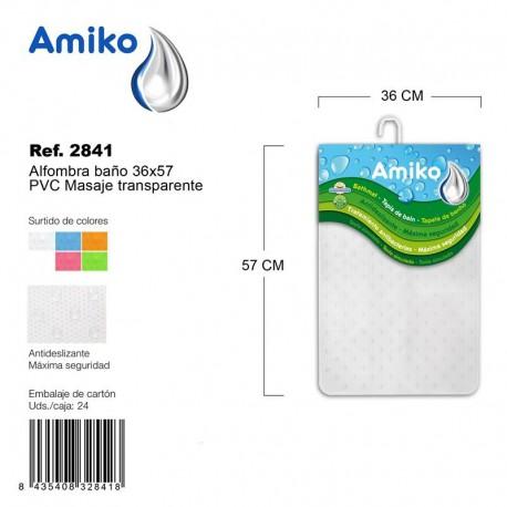Alfombra Baño PVC Masaje 36x97cm Verde Amiko