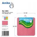 Alfombra Baño PVC Masaje 54x54cm Rosa Amiko