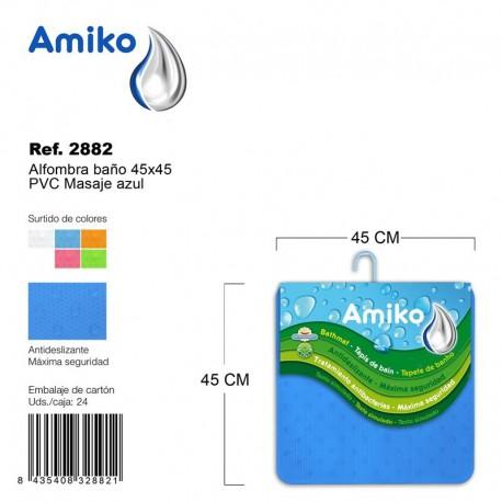 Alfombra Baño PVC Masaje 45x45cm Transparebte Amiko