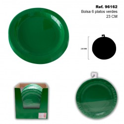 Set de 6 Platos 23cm Verdes SINI