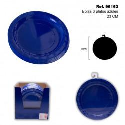 Set de 6 Platos 23cm Azules SINI