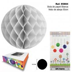 Bola de Papel Blanco 50cm con Forma de Panel de Abeja SINI