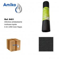 Alfombra Antideslizante Multiusos Tupida Negro 0.4x1.25M Amiko