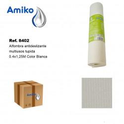 Alfombra Antideslizante Multiusos Tupida Blanca 0.4x1.25M Amiko