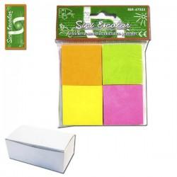 Stick Notas 400 Hojas 3,8cm x 3,8cm 4 Colores SINI