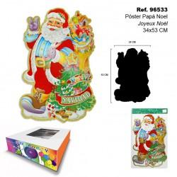 Poster Papá Noel Joyeux Noël 34x53cm SINI