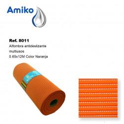 Alfombra Antideslizante Multiusos Naranja 0.65x12M Amiko