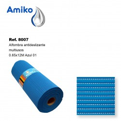 Alfombra Antideslizante Multiusos Azul 0.65x12M Amiko