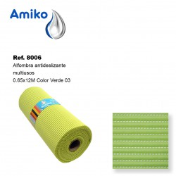 Alfombra Antideslizante Multiusos Verde 03 0.65x12M Amiko