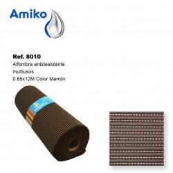 Alfombra Antideslizante Multiusos Marrón 0.65x12M Amiko