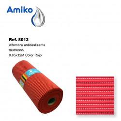 Alfombra Antideslizante Multiusos Roja 0.65x12M Amiko