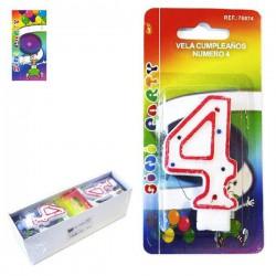 Vela de Cumpleaños Número 4 Sini