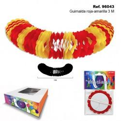 Guirnalda Roja-Amarilla 3m Sini