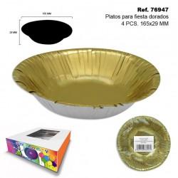 4 Platos para Fiesta 16,5x2,9cm SINI