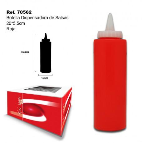 Botella Dispensadora de Salsas Roja 20*5,5cm SINI