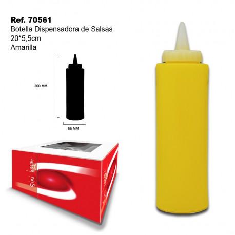 Botella Dispensadora de Salsas Amarilla 20*5,5cm SINI