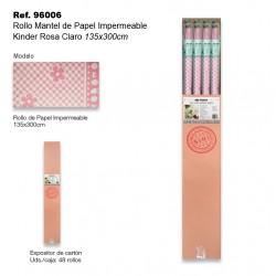 Rollo Mantel de Papel Impermeable 135x300cm Kinder Rosa Claro SINI