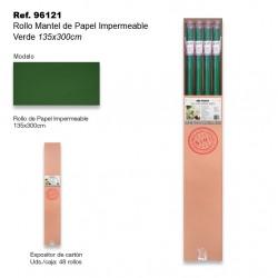 Rollo Mantel de Papel Impermeable 135x300cm Verde SINI
