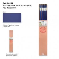 Rollo Mantel de Papel Impermeable 135x300cm Azul SINI
