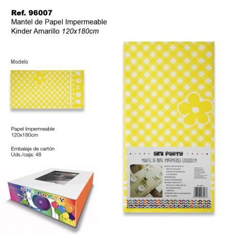 Mantel de Papel Impermeable 135x500cm Kinder Amarillo SINI