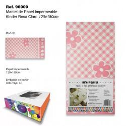 Mantel de Papel Impermeable 120x180cm Kinder Rosa Claro SINI