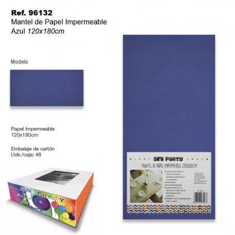 Mantel de Papel Impermeable 120x180cm Azul SINI