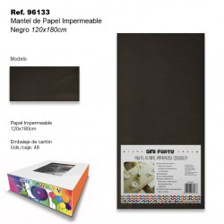 Mantel de Papel Impermeable 120x180cm Negro SINI