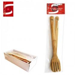 Cuchara y Tenedor de Madera 28cm SINI