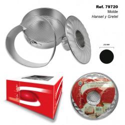 Molde acero inox Hansel y Gretel 250 mm