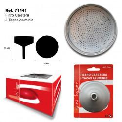 Filtro Cafetera 3 Tazas Aluminio SINI