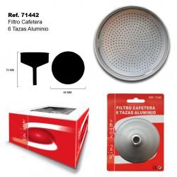 Filtro Cafetera 6 Tazas Aluminio SINI
