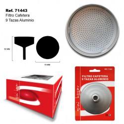 Filtro Cafetera 9 Tazas Aluminio SINI