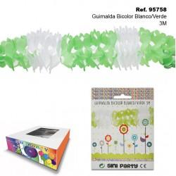 Guirnalda Bicolor Blanco/Verde 3m SINI