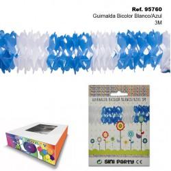 Guirnalda Bicolor Blanco/Azul 3m SINI