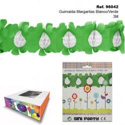Guirnalda Margaritas Blanco/Verde 3M SINI