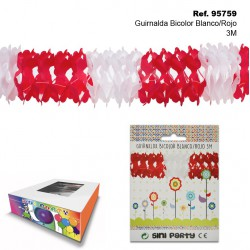 Guirnalda Bicolor Blanco/Rojo 3m SINI